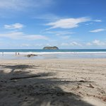 Wide, white sandy beaches with room to explore
