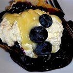 Yummy lemon cake with blueberries for dessert!!!