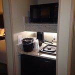 Microwave, fridge, coffee stuff etc