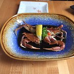 Soft Shell crab, notice it isn't breaded and fried like normally done in other places