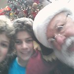 Selfie with Santa and guests