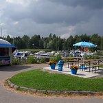 The ice-cream kiosk in Kiuasniemi