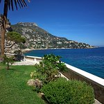Beautiful view on Cap d'Ail from Cap Estel gardens