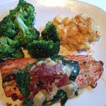 Wild Salmon with Spinach, Bacon & Blue Cheese