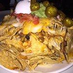 Volcano nachos - before (looks ALMOST full)
