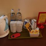 complimentary water and 3 in 1 tea and coffee with water heater