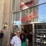 Campari Bar - away from the heat and the throngs at the Doumo 1.