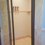 Walk-in shower in bathroom
