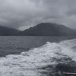 A boat trip to nearby Loch Hourne on a wet day