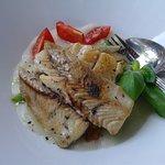 Grilled mackerel and lemon potatoes