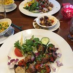 grilled lamb with salad/rice