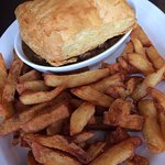 steak and kidney pie with fries