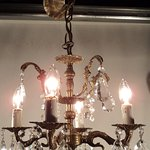 fancy brass and crystal chandelier