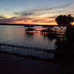 Sunset from the east shore of Seneca Lake.