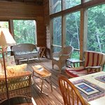 Large, clean screened in porch