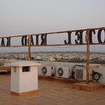 La terrasse de l'hotel.