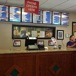 Order counter & menu