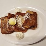 Strawberry bread french toast
