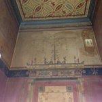 The lobby frescos.