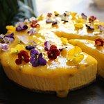 Mango & Passionfruit Raw Mousse Cake