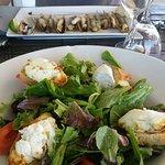 Salade chèvre couteaux plancha