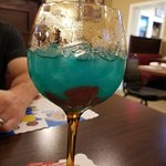 Fish Bowl drink... yes those are Swedish fish in the bottom. Yum!