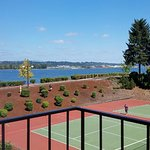 """View from our room! To think some people like to complain about """"tennis court views""""!"""