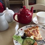 An absolutely divine quiche. I ate at Really Rather Good every day I was in Bury StEdmonds
