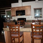 Kitchen and dining area in cottage