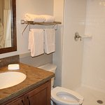 Clean, updated bathroom in cottage