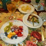 Fruit Plate and homemade struedel