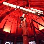 屋上にあった天体望遠鏡
