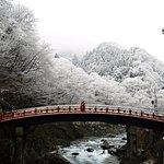 The bridge on a snowy day