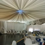 Permanently draped functions venue