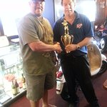 First Place  Trophy for the Rossis Team