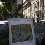 In the town... Many copies of Van Gogh's work with snippets from his letters and journals