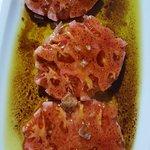 Tomate de Noja en el restaurante Plaza. Excelente