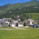 Vue du site depuis la montagne