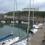 Portpatrick harbour looking up to the hotel