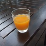 Tasty fresh Orange Juice at the Regency Club Lounge