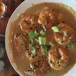 Had the shrimp and grits. My first time having shrimp and grits and they were incredible!