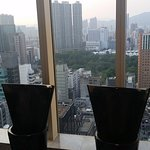 The men´s toilets and the view