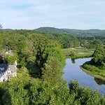 Taking off from Quechee Village
