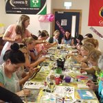 Craft activity in the dining room
