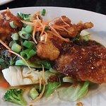 Grouper Cheeks - good sauce but Veggies didn't play well