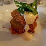 Blue Crab Cakes ancho chili aioli & tomato provençale