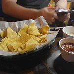 Complimentary Chips, Salsa and White Sauce
