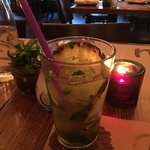 Coconut Grove mojito (tastes like juice with a kick)