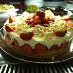 Strawberry & Vanilla cheesecake