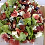 Fig, Blue Cheese & Proscuitto Salad